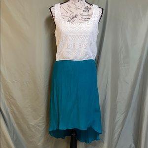 Maurices medium flowy summer dress white & green